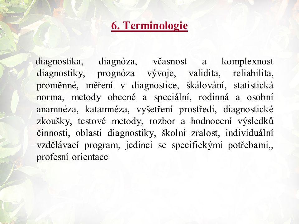 6. Terminologie
