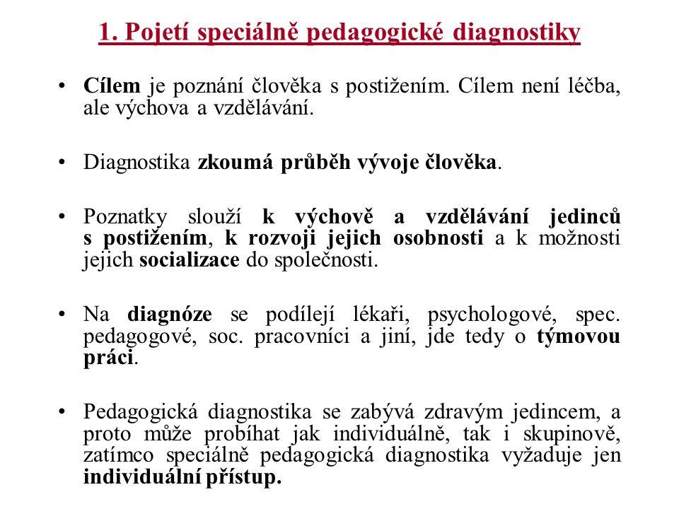 1. Pojetí speciálně pedagogické diagnostiky