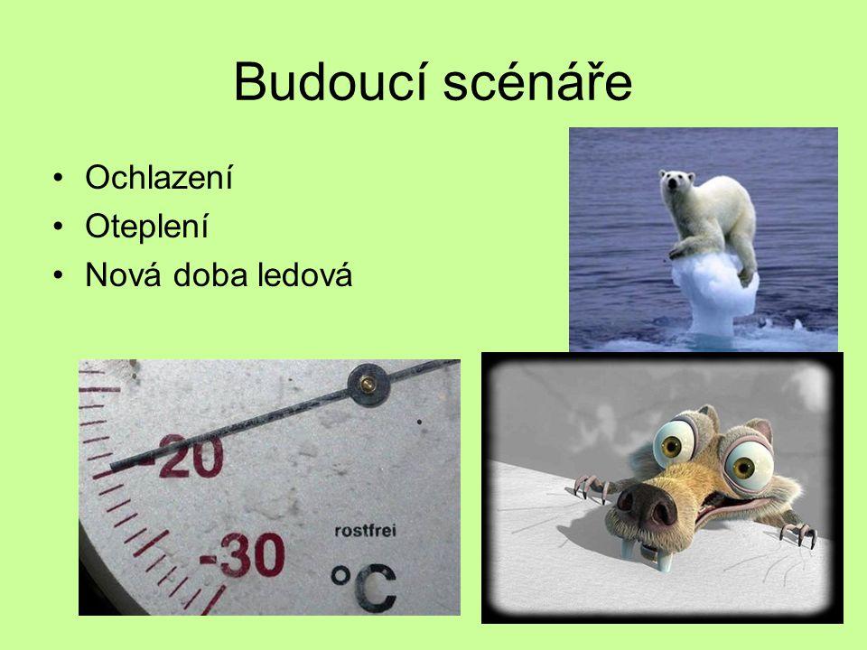 Budoucí scénáře Ochlazení Oteplení Nová doba ledová
