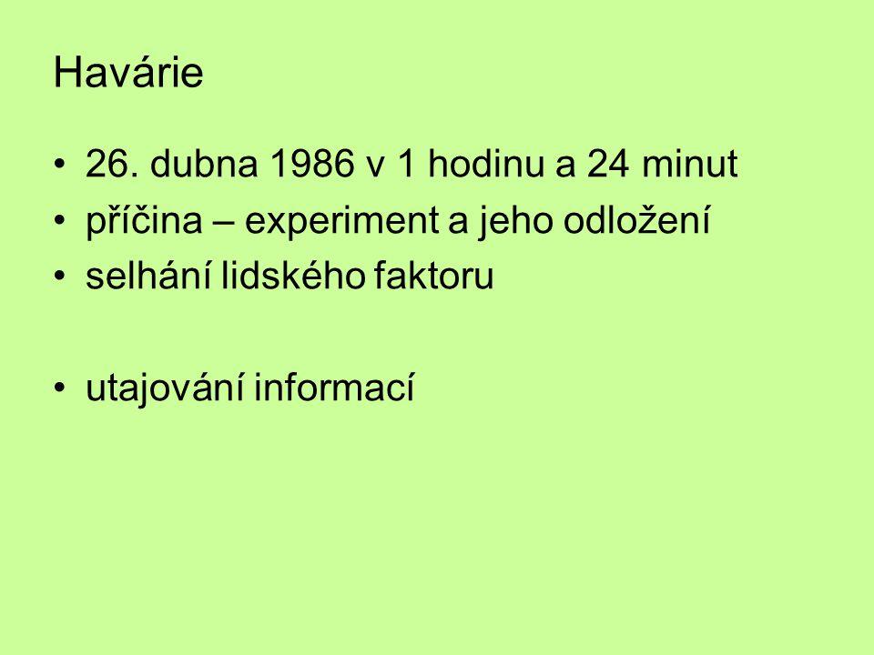 Havárie 26. dubna 1986 v 1 hodinu a 24 minut