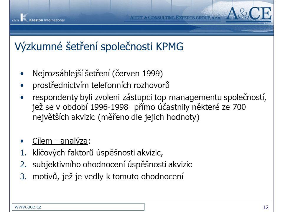 Výzkumné šetření společnosti KPMG