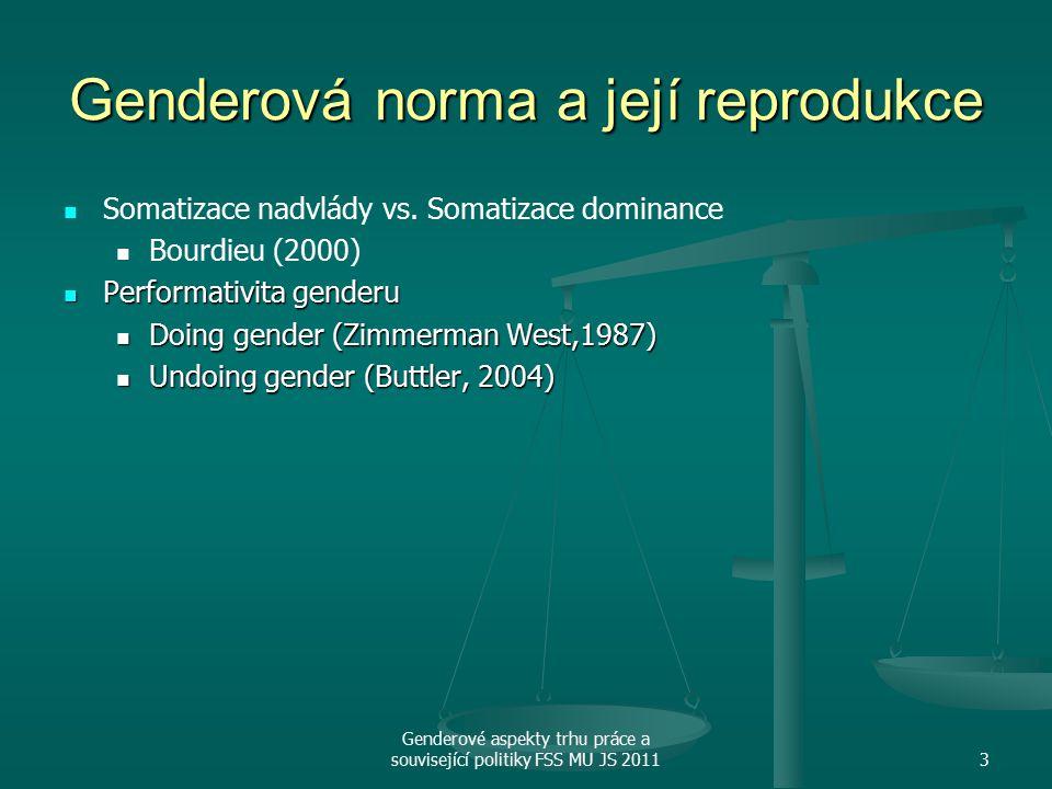 Genderová norma a její reprodukce