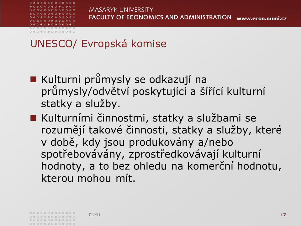 UNESCO/ Evropská komise