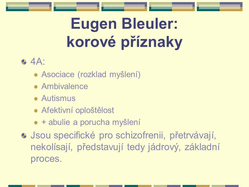 Eugen Bleuler: korové příznaky