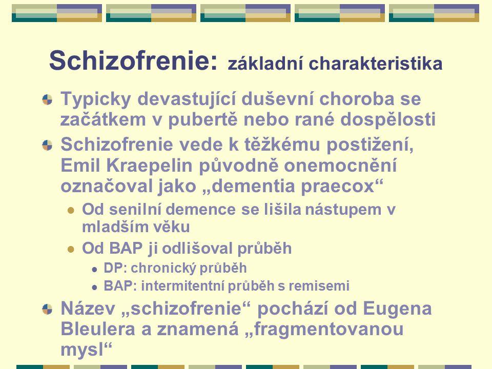 Schizofrenie: základní charakteristika