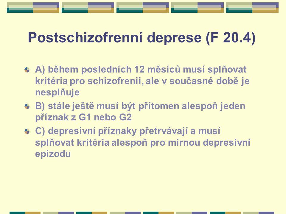 Postschizofrenní deprese (F 20.4)