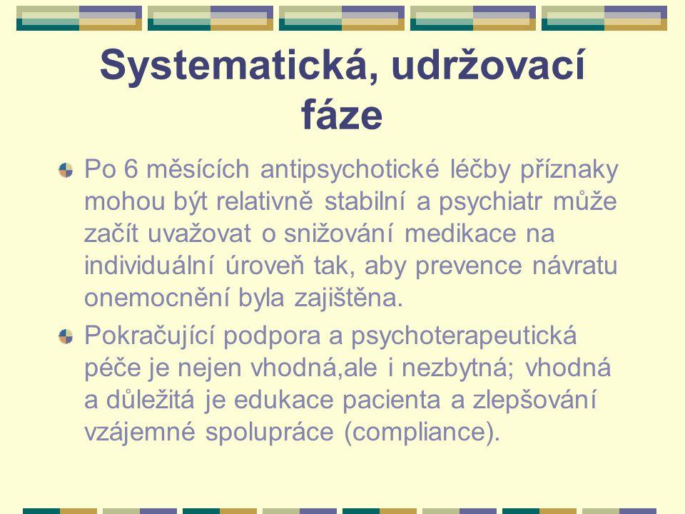 Systematická, udržovací fáze