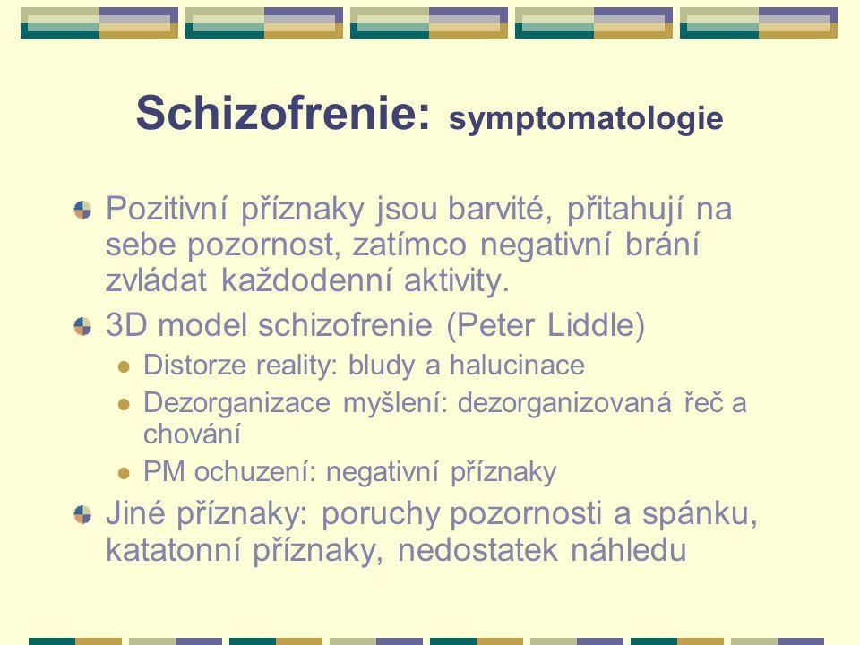 Schizofrenie: symptomatologie