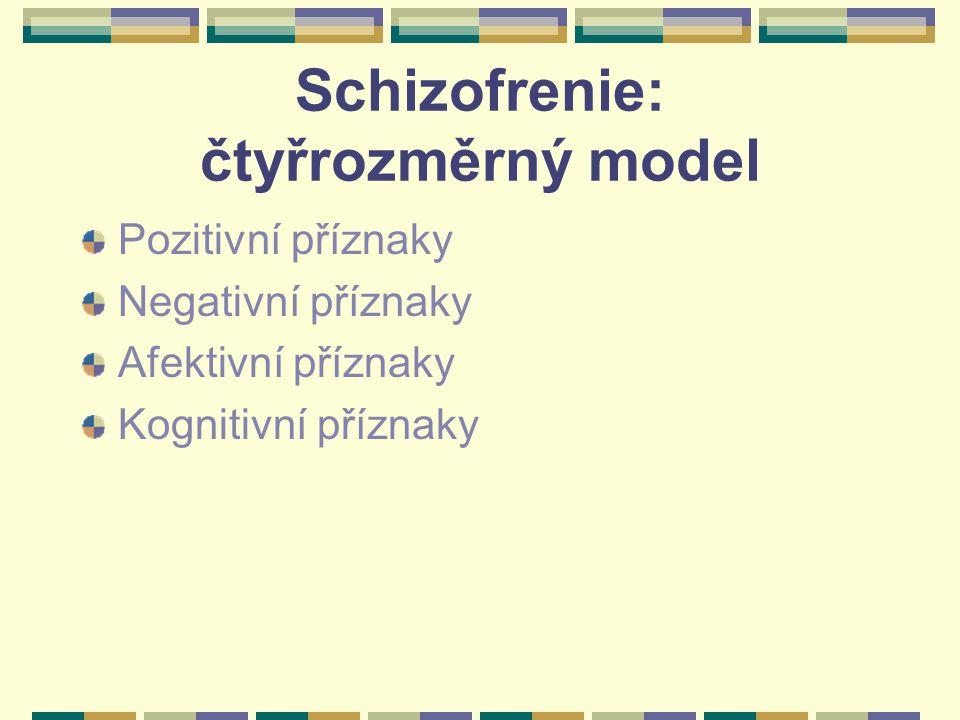Schizofrenie: čtyřrozměrný model