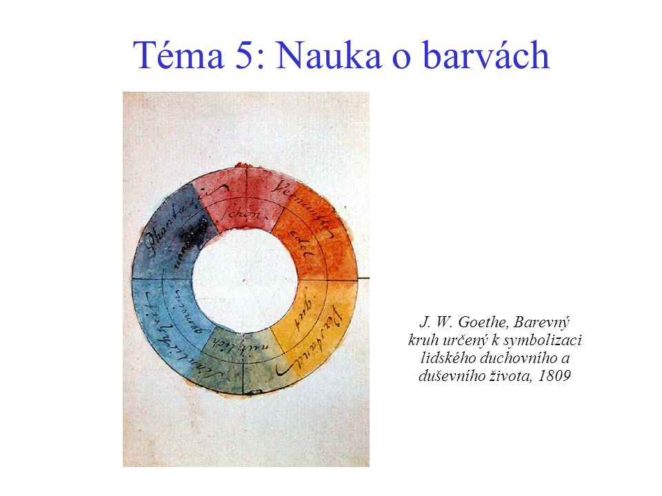 Téma 5: Nauka o barvách J. W.