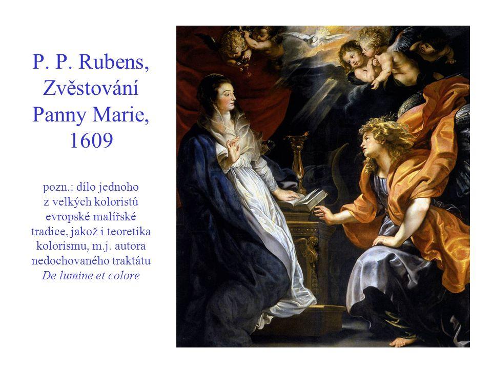 P. P. Rubens, Zvěstování Panny Marie, 1609 pozn