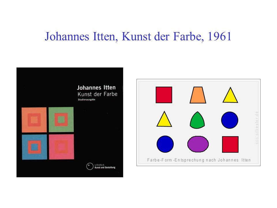 Johannes Itten, Kunst der Farbe, 1961