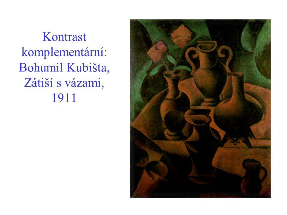 Kontrast komplementární: Bohumil Kubišta, Zátiší s vázami, 1911
