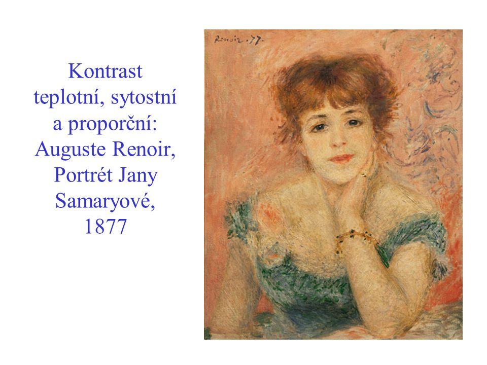Kontrast teplotní, sytostní a proporční: Auguste Renoir, Portrét Jany Samaryové, 1877