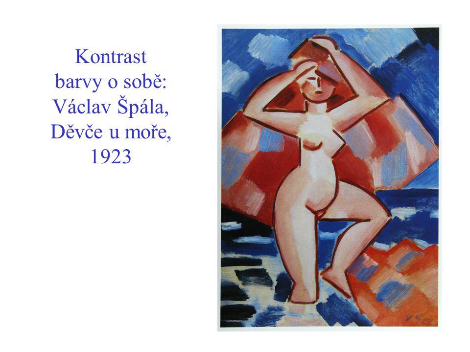 Kontrast barvy o sobě: Václav Špála, Děvče u moře, 1923