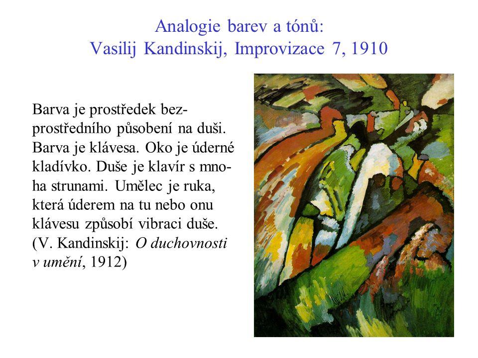 Analogie barev a tónů: Vasilij Kandinskij, Improvizace 7, 1910