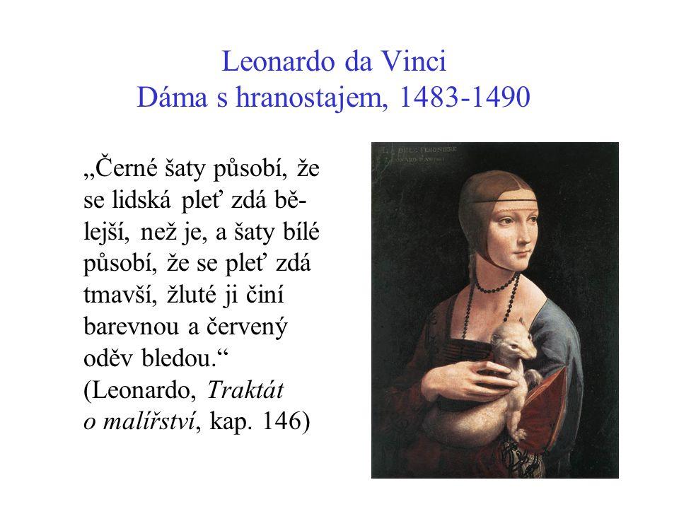 Leonardo da Vinci Dáma s hranostajem, 1483-1490