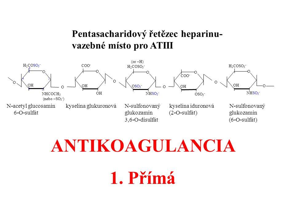 ANTIKOAGULANCIA 1. Přímá