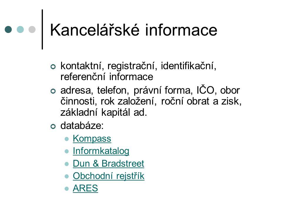 Kancelářské informace