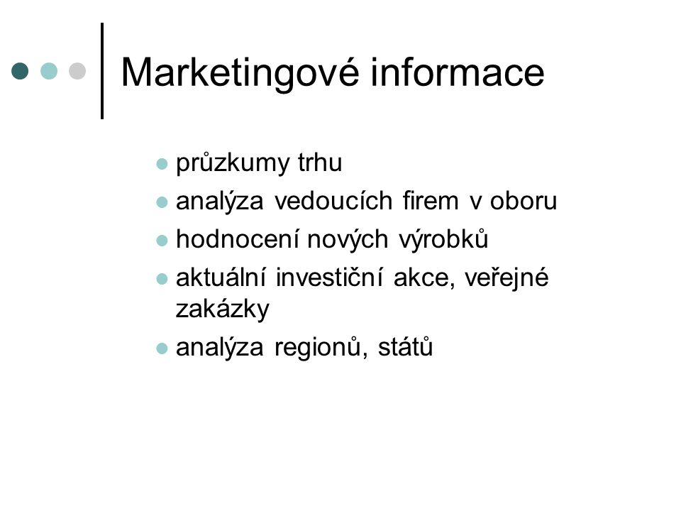 Marketingové informace