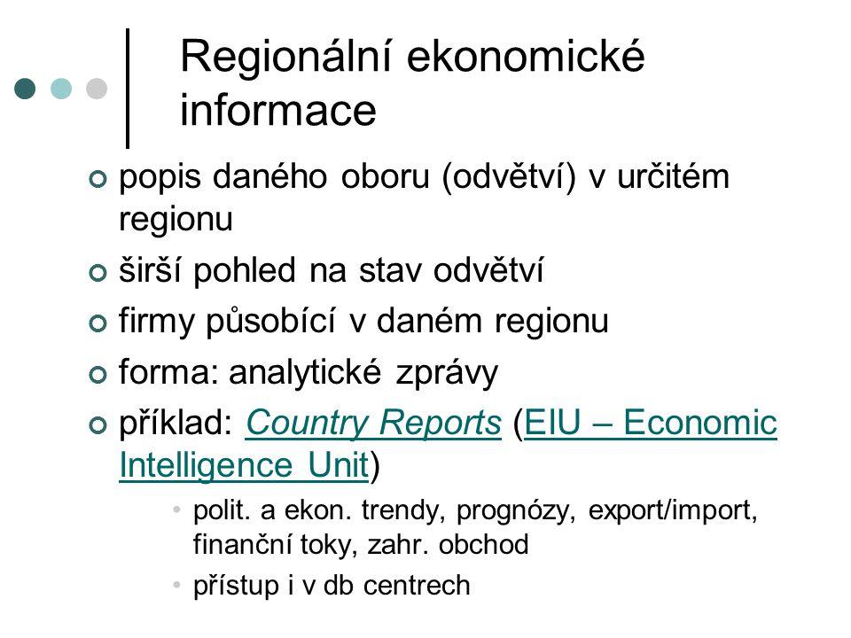 Regionální ekonomické informace