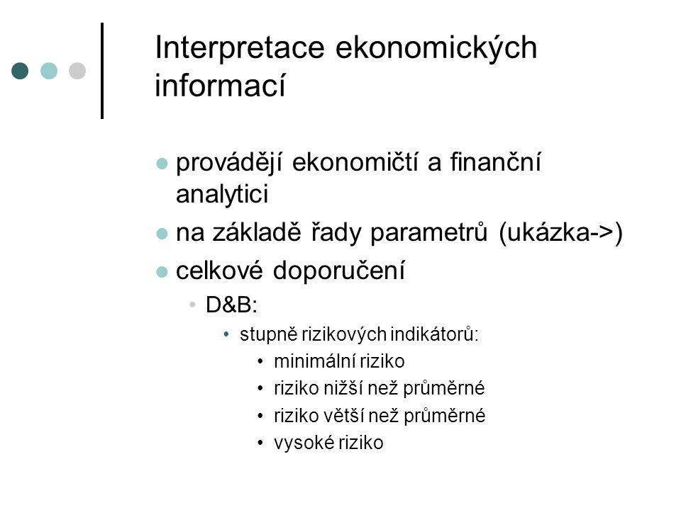 Interpretace ekonomických informací