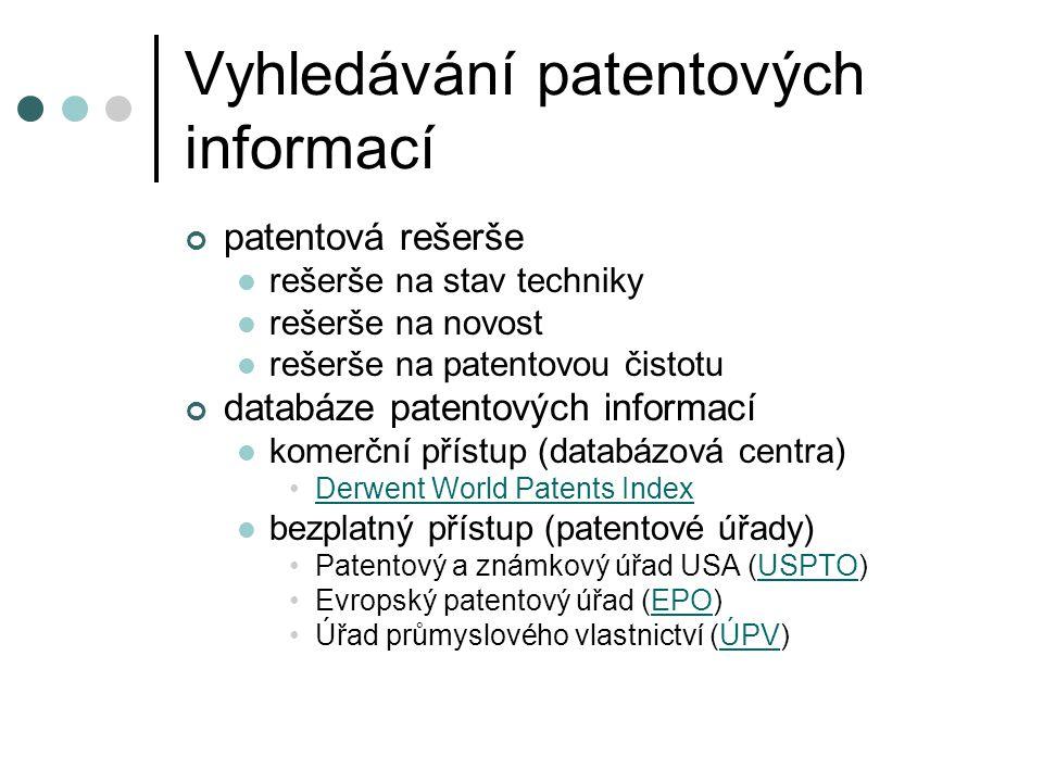 Vyhledávání patentových informací