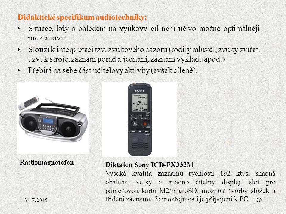 Didaktické specifikum audiotechniky:
