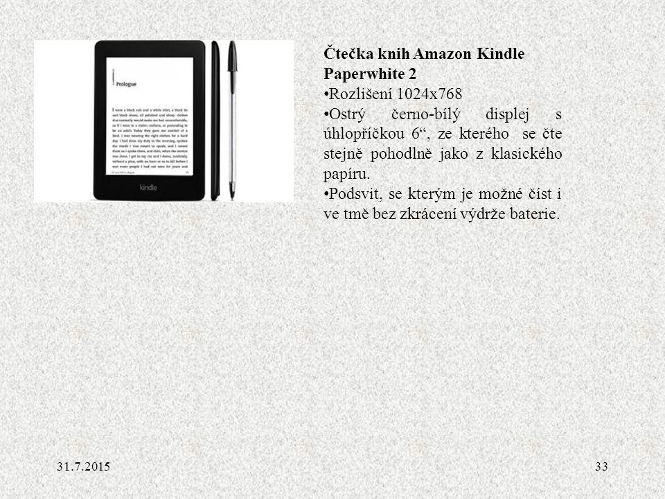 Čtečka knih Amazon Kindle Paperwhite 2 Rozlišení 1024x768