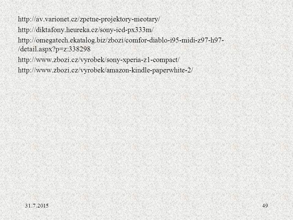http://av. varionet. cz/zpetne-projektory-meotary/ http://diktafony