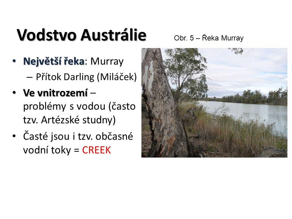 Vodstvo Austrálie Největší řeka: Murray
