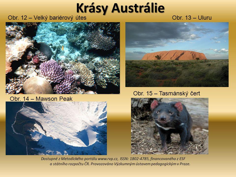 Krásy Austrálie Obr. 12 – Velký bariérový útes Obr. 13 – Uluru
