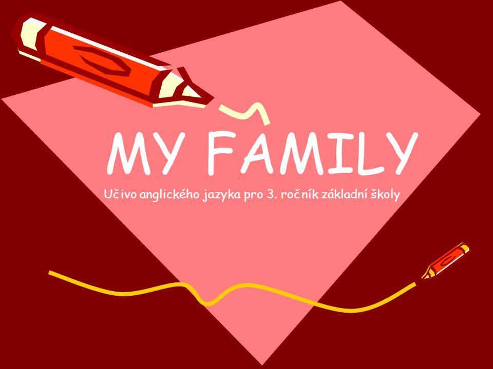 MY FAMILY Učivo anglického jazyka pro 3. ročník základní školy