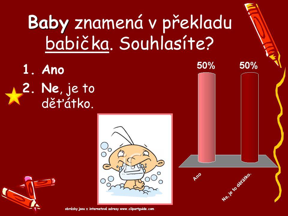 Baby znamená v překladu babička. Souhlasíte