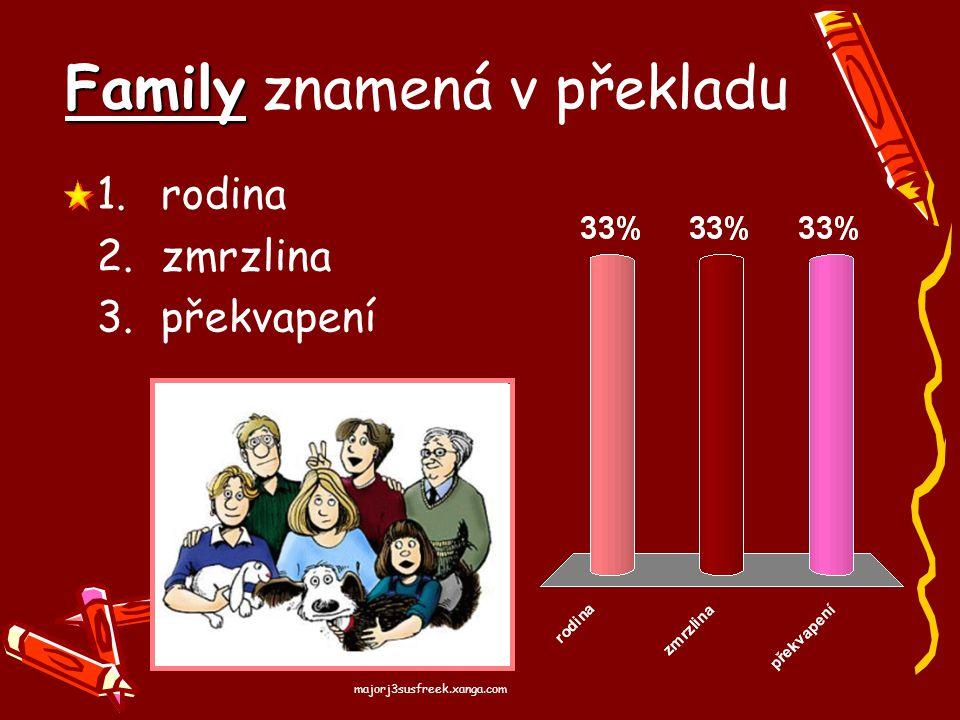 Family znamená v překladu