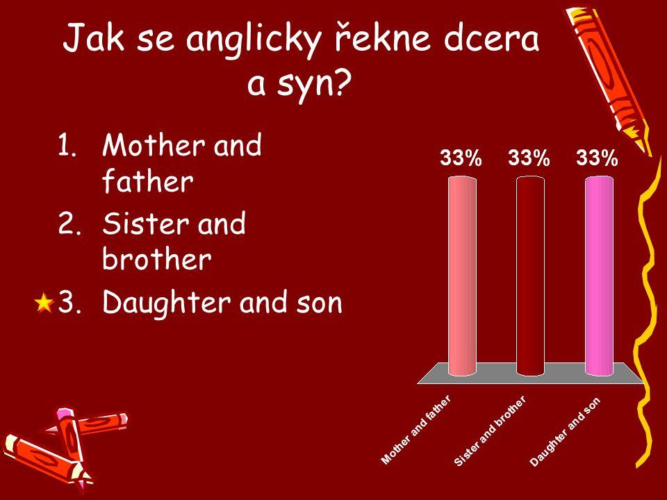 Jak se anglicky řekne dcera a syn