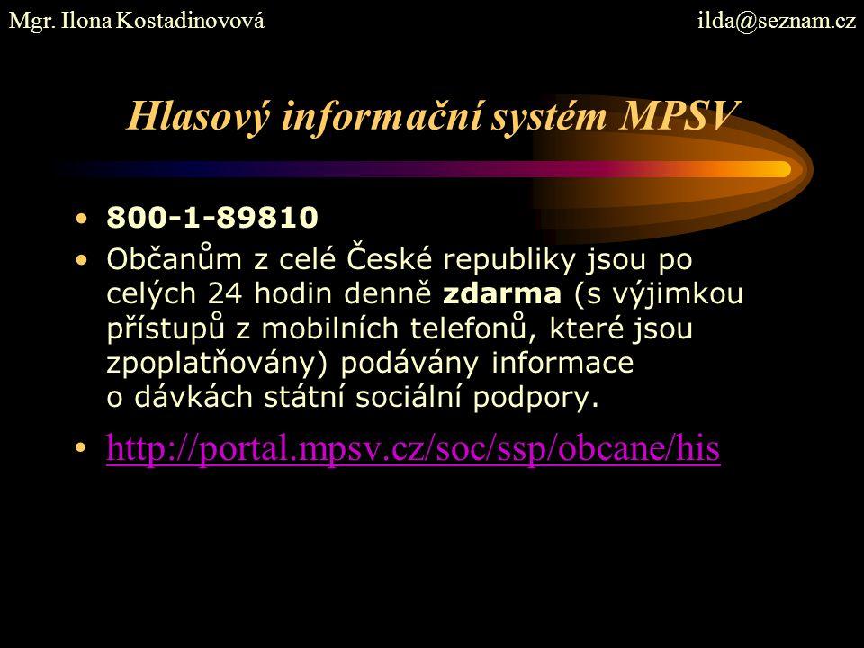 Hlasový informační systém MPSV
