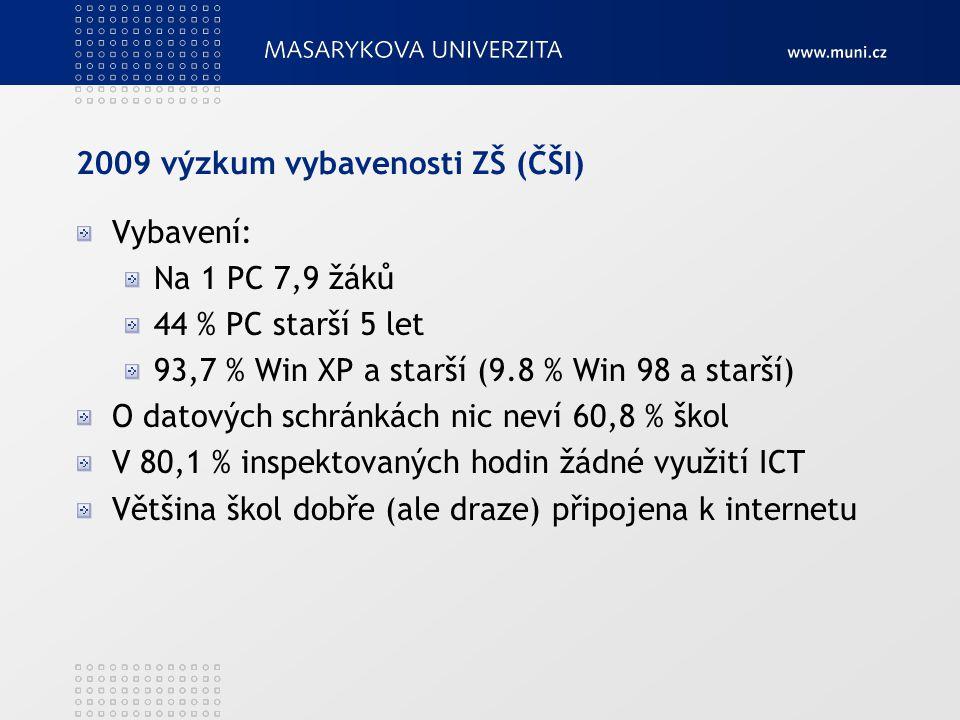 2009 výzkum vybavenosti ZŠ (ČŠI)