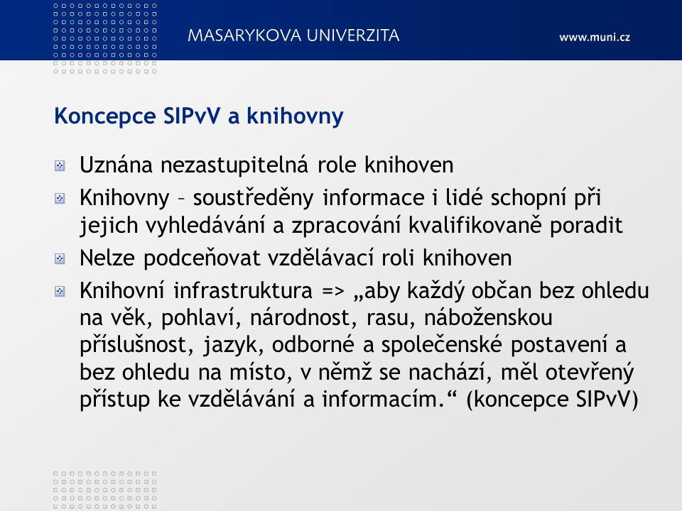 Koncepce SIPvV a knihovny