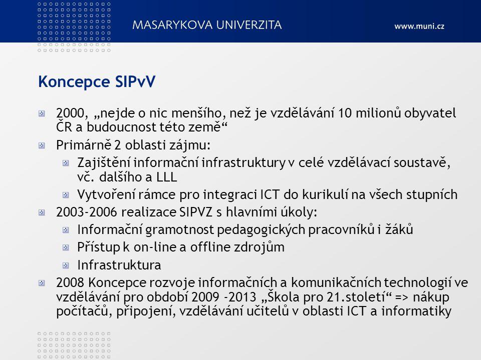 """Koncepce SIPvV 2000, """"nejde o nic menšího, než je vzdělávání 10 milionů obyvatel ČR a budoucnost této země"""