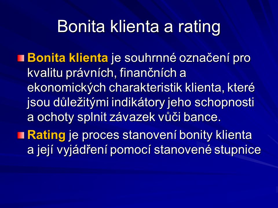 Bonita klienta a rating