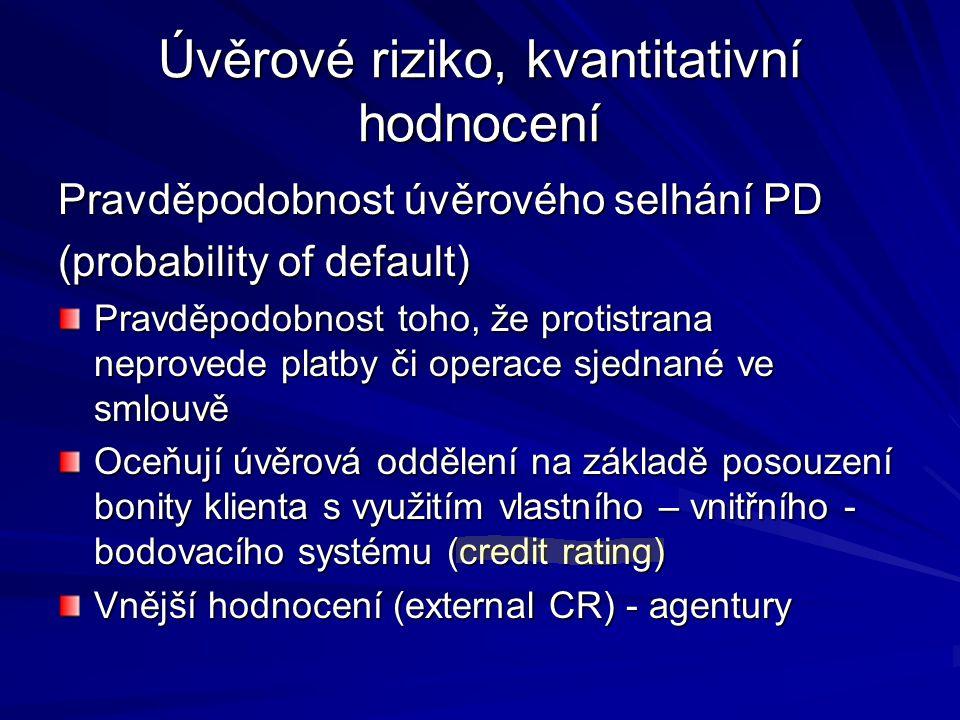 Úvěrové riziko, kvantitativní hodnocení