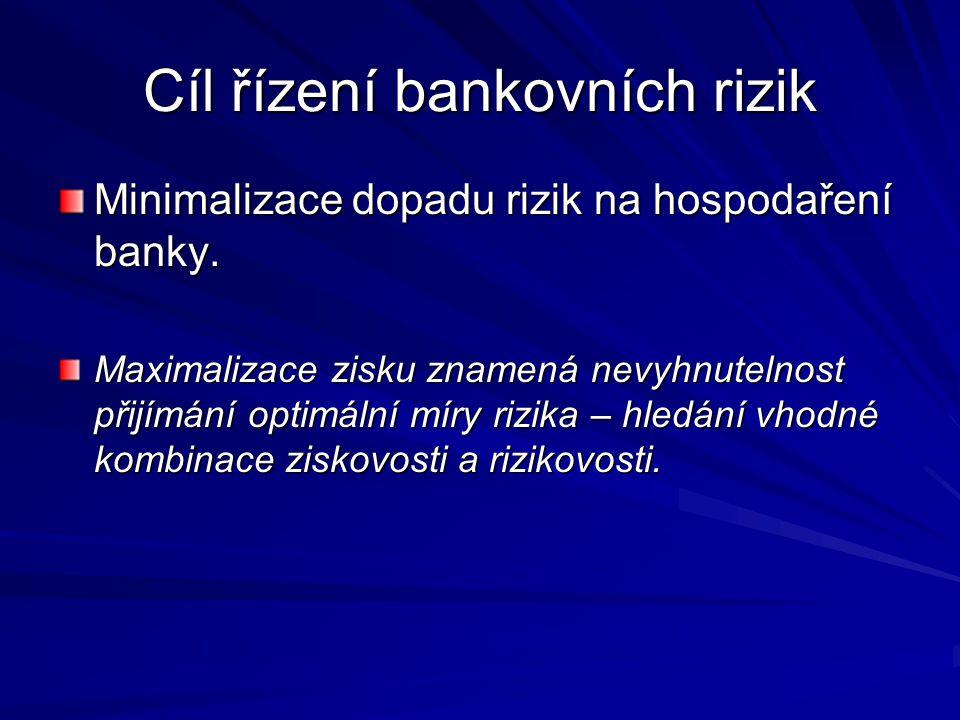 Cíl řízení bankovních rizik