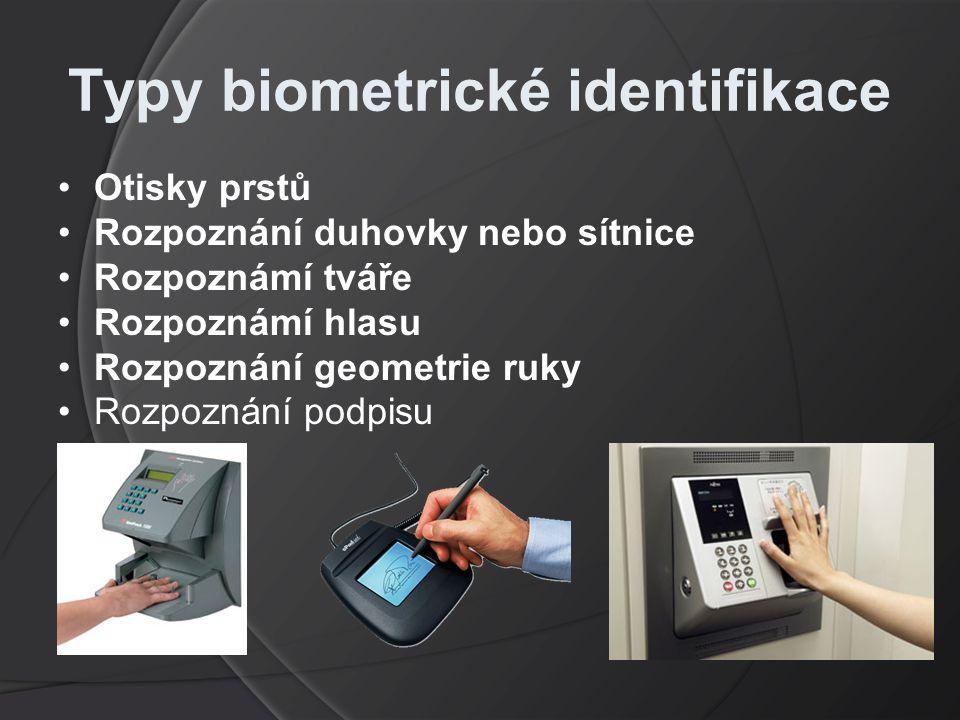 Typy biometrické identifikace