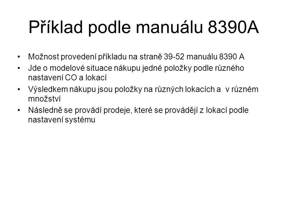 Příklad podle manuálu 8390A