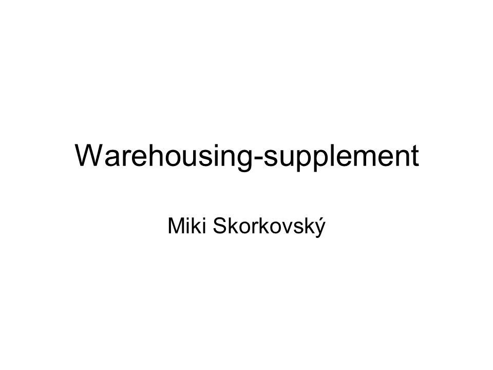 Warehousing-supplement