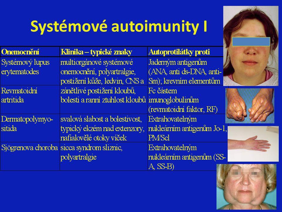 Systémové autoimunity I