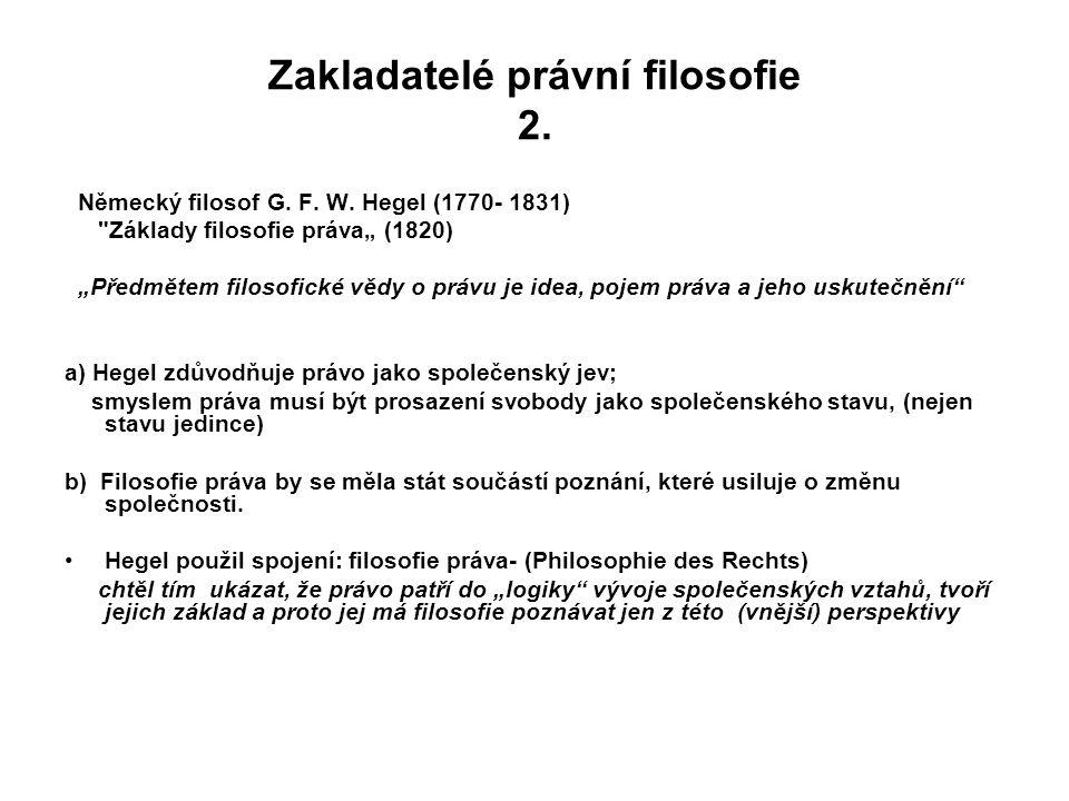 Zakladatelé právní filosofie 2.
