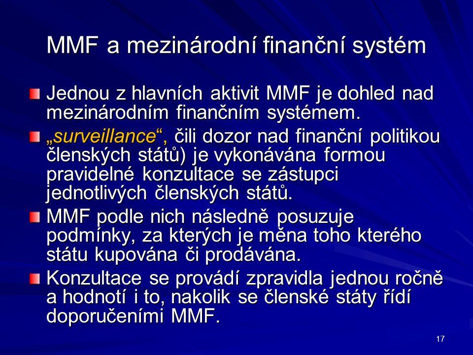 MMF a mezinárodní finanční systém
