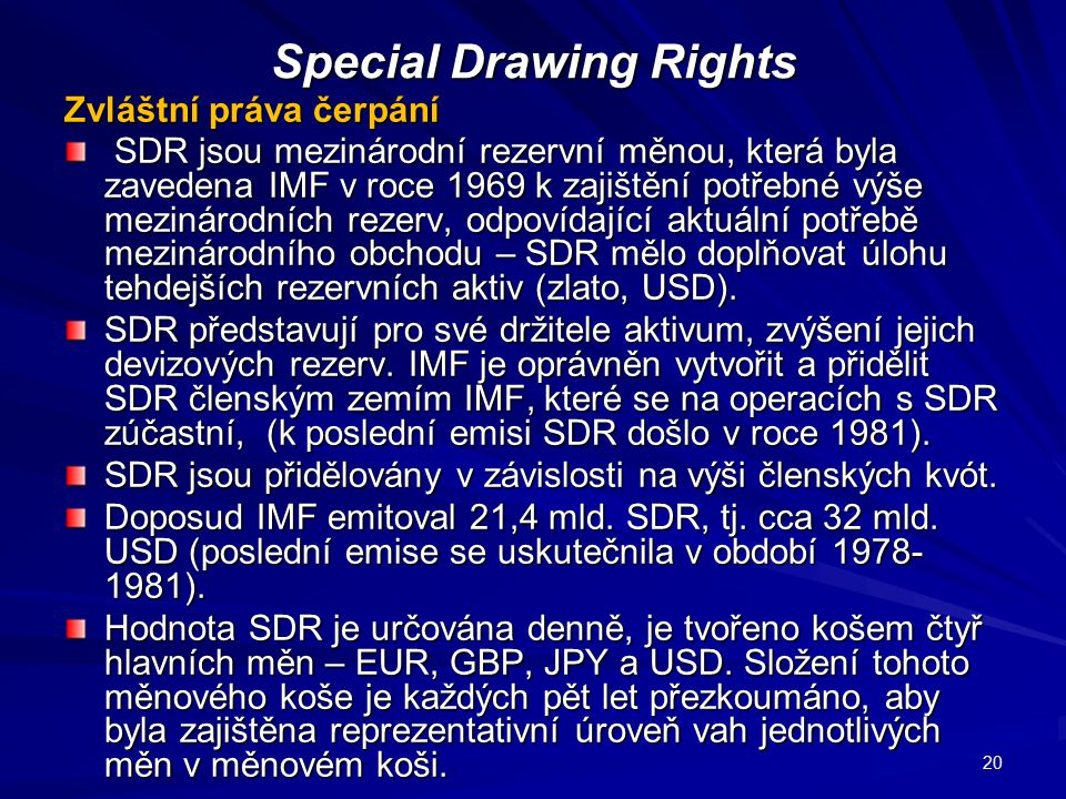 Special Drawing Rights